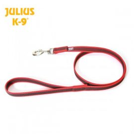 Julius K-9 Super grip Leash 1.2m 0.7/20mm Red Gray