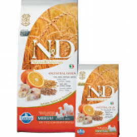 Farmina N&D Low Grain Codfish & Orange Mini Alimento Completo per Cani  di Taglia Piccola con Merluzzo e Arancia    800gr
