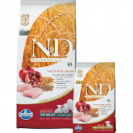 Farmina N&D Low Grain Chicken & Pomegranate Starter Puppy All Breeds Con Pollo e Melograno per Cuccioli di Tutte le Taglie dallo Svezzamento ai Due Mesi di Età 800gr