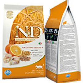 Farmina N&D l0w grain Codfish & Orange Adult Cat Alimento per Gatti Adulti  con Merluzzo e Arancio 300gr