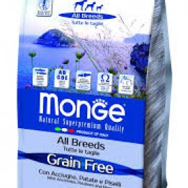 Monge Grain Free All Breeds con Acciughe Patate e Piselli
